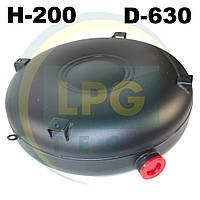 Тороидальный баллон наружный 200 х 630 мм 50 литров полнотелый Green Gas, фото 1