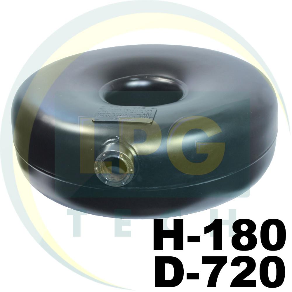 Тороидальный баллон наружный Green Gas 54 литра 180х720 мм