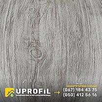 Профнастил Белое Дерево / RAL 7036 3д двухсторонний 0.42 мм, фото 3