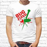 """Мужская футболка Push IT для айтишников, дизайнеров и программистов """"Bug fixed"""""""