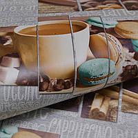 Обои для стен шпалери в кухню серые влагостойкие кофе десерт плитка 0,53х10 ограниченное количество