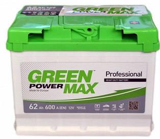 Автомобильный аккумулятор Green Power Max 6СТ-62