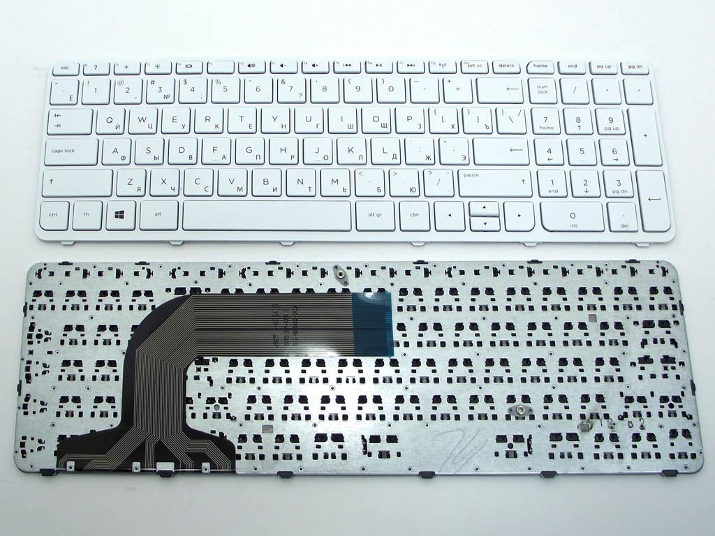 Клавиатура для ноутбука HP Pavilion 17 17-E, 17-N Series ( RU White с рамкой)