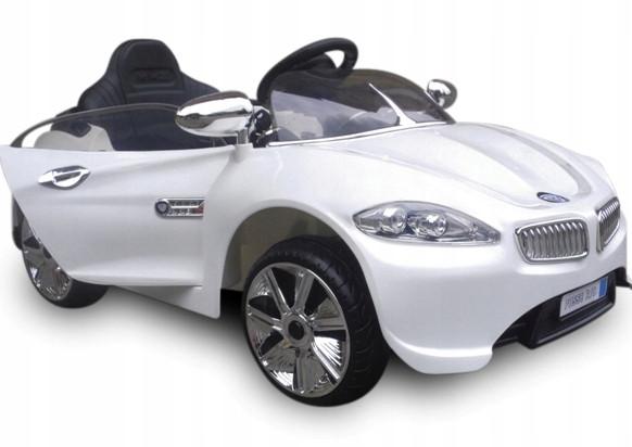 Детский электромобиль на аккумуляторе CABRIO B8 белый с пультом управления ( радиоуправление )