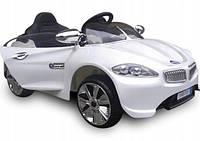 Детский электромобиль на аккумуляторе CABRIO B8 белый с пультом управления ( радиоуправление ), фото 1