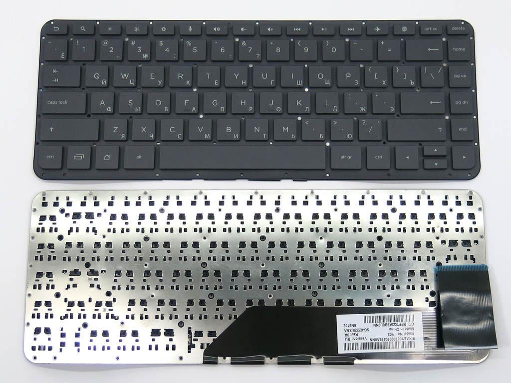 Клавіатура для ноутбука HP SlateBook 14-p000, 14-p010nr ( RU Black Без Рамки)