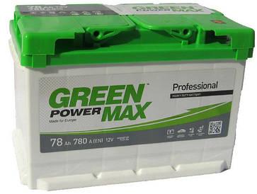 Автомобильный аккумулятор Green Power Max 6СТ-78