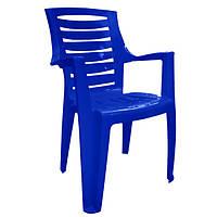 Стул пластиковый Рекс темно-синий