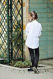 Рубашка блузка детская коттон удлиненная сзади белая и черная школьная форма рост:134-152 см, фото 2