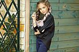 Рубашка блузка детская коттон удлиненная сзади белая и черная школьная форма рост:134-152 см, фото 10