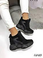 Кроссовки на платформе Balenciaga черные