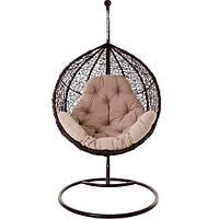 Кресло-кокон Ява с подушкой Ева коричневое