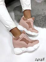 Кроссовки на платформе Balenciaga пудра