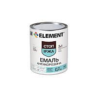"""Антикоррозионная эмаль Стоп ржавчина 3 в 1 """"ELEMENT"""" 0.7 кг синий"""