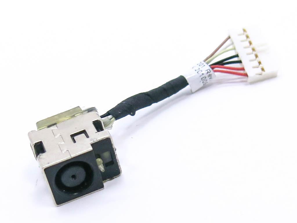 Разъем питания ноутбука HP Pavilion DM4, DV3-4000, DV4-4000, DV4T-4100, DV4T-4200 Series, CQ32 (7.4*5.0 Central pin) с кабелем