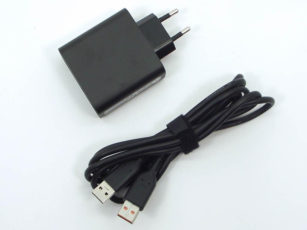 Блок живлення для ноутбука Lenovo 20V, 5.2 V 2A 40W (USB) з кабелем Black P,N ADL-40WCC ADL40WDB. для