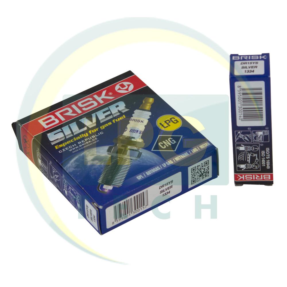 Свечи зажигания Brisk Silver DR15YS.4K (упаковка 4 штуки)