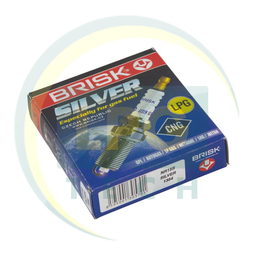 Свечи зажигания Brisk Silver NR15S.4K (упаковка 4 штуки)