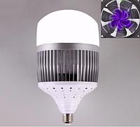 Светодиодная лампа 100Вт E27 6500К, с алюминиевым охладителем и вентилятором, фото 1