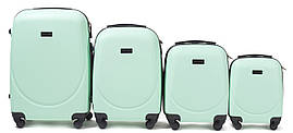 Набор чемоданов 4 штуки в 1 Wings 310 на 4 колесах Мята