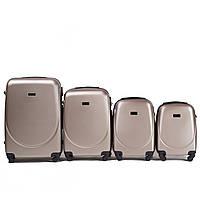 Набор чемоданов 4 штуки в 1 Wings 310 на 4 колесах Шампань