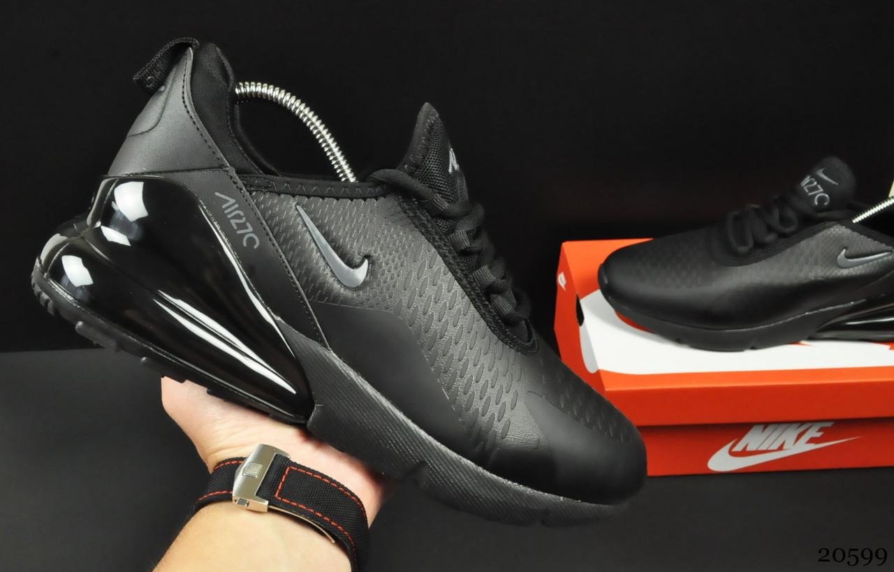 Мужские Кроссовки Nike Air Max 270 арт.20599 (мужские, черные)