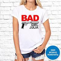 """Женская футболка Push IT с принтом """"Bad girl Julia"""""""