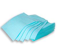 Нагрудники для пациента стоматологические голубые ящик 500шт (Украина)