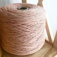 Итальянская бобинная пряжа в шнурочке Zefir Lagopolane (шелк, мохер, меринос) 280м/100г, цвета пыльная роза