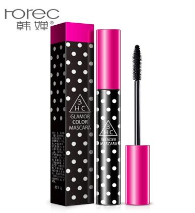 Тушь для ресниц Rorec 3HC Glamour Color Mascara объемная подкручивающая (8г)