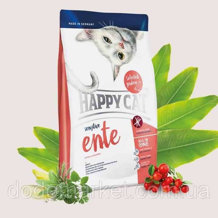 Сухой корм для кошек Хеппи Кет Happy Cat Sensitive Утка 4 кг