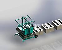 Вибростанок для производства шлакоблоков MS-2 (универсал) 2 прямоугольные пустоты.
