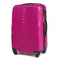 Чемодан Wings 304 большой 77х48х32 см 95л пластиковый на 4 колесах Розовый