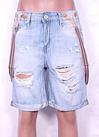 Модные женские шорты с подтяжками и рванкой