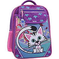 Рюкзак школьный с принтом котика