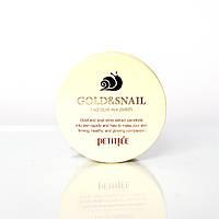 Гидрогелевые патчи под глаза с экстрактом муцина улитки Gold & Snail Hydrogel Eye Patch Petitfee