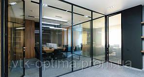 Алюминиевые двери офисные межкомнатные входные