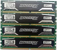 Комплект оперативной памяти Crucial Ballistix DDR2 8Gb (4*2Gb) 800MHz 6400U CL5 (BLS2G2D80EBS1S00.16FH) Б/У, фото 1