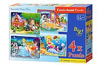 Детские пазлы 4 в 1 Красивые сказки