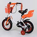 """Велосипед 12"""" дюймів 2-х колісний 1285 """"CORSO"""" (1) новий ручне гальмо, кошик, дзвіночок, сидіння з ручкою,, фото 2"""