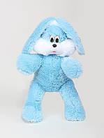 """Мягкая игрушка Зайчишка """" Снежок"""" голубого цвета, высота 65 см"""