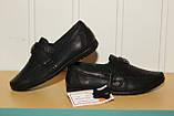 Туфли на мальчика 33,34,35,36 р черные на резинке Kangfu., фото 2