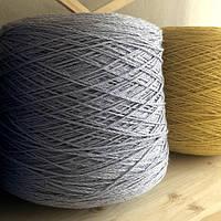 Итальянская бобинная пряжа в шнурочке Zefir Lagopolane (шелк, мохер, меринос) 280м/100г, голубого цвета