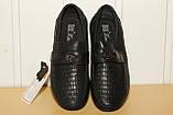 Туфли на мальчика 33,34,35,36 р черные на резинке Kangfu., фото 4