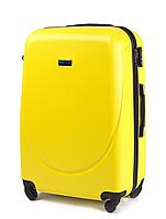 Чемодан Wings 310 средний 65 х 44 х 27 на 4 колесах Желтый
