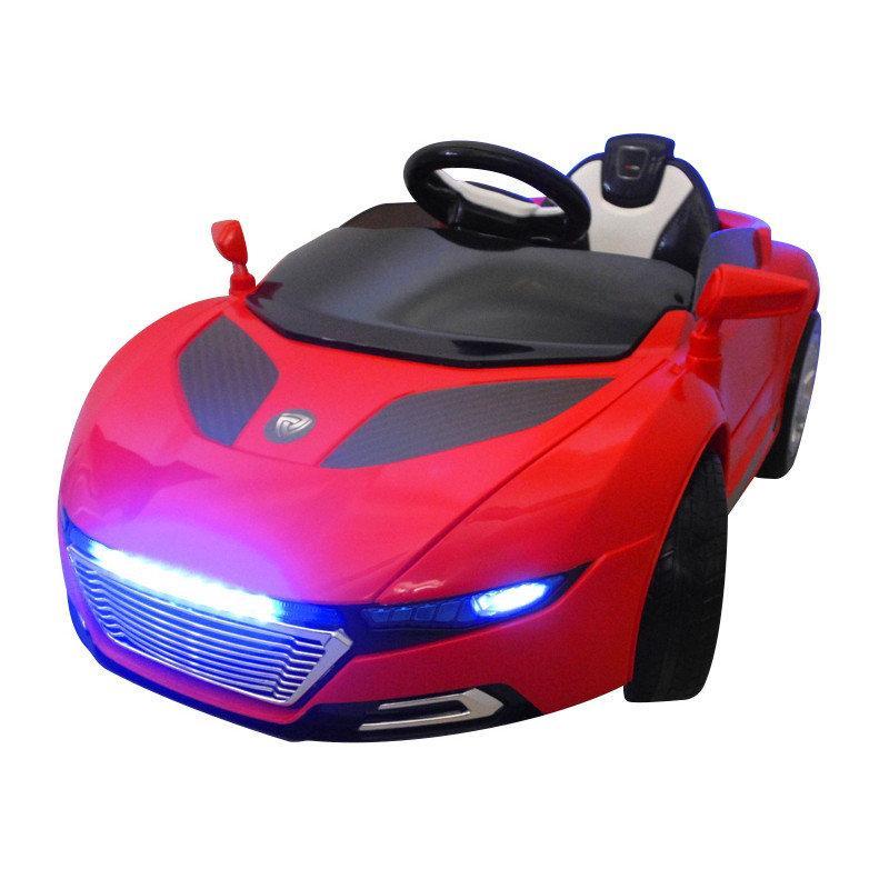 Детский электромобиль на аккумуляторе Cabrio A1 EVA с пультом управления Красный (Чудомобиль)