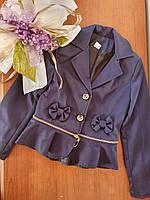 Пиджак школьный для девочек размер 116