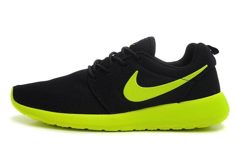 Кроссовки мужские Nike Roshe Run II Black-Green . кроссовки, кроссовки, кроссовки мужские