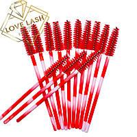 Щеточки для ресниц нейлоновые Multicolor Красный