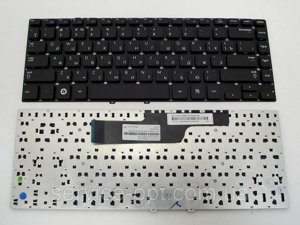 Клавиатура для ноутбука Samsung NP350V4C NP355V4 350V4C 355V4C Series 14.0 ( RU Black, Без рамки ).
